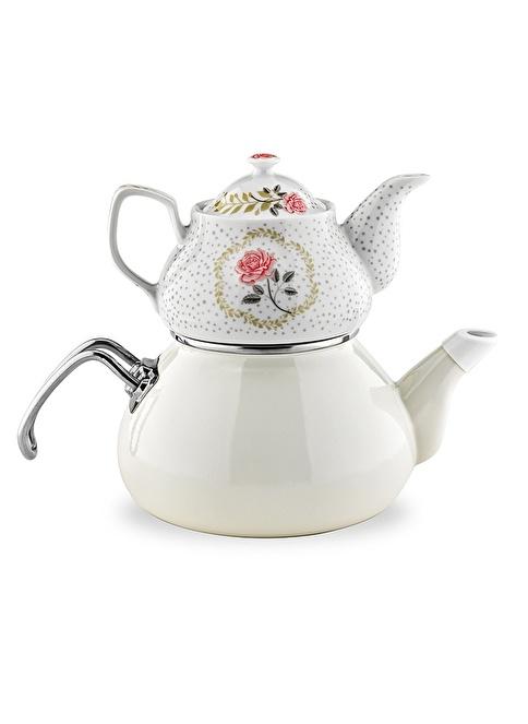 Schafer Tee Morgen Emaye Çaydanlık Bej Bej